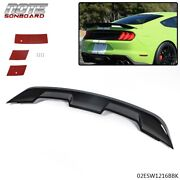 Glossy Black Gt500 Gt350 Style Spoiler Wing Fit For S550 15-21 Ford Mustang