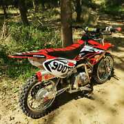 Graphics Kit For Honda Crf50 2004-2012 Or 2013-2021 Crf 50 Division - Red