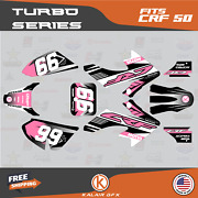 Graphics Kit For Honda Crf50 2004-2012 Or 2013-2021 Crf 50 Turbo- Pink