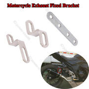 Universal Motorcycle Exhaust Pipe Escape Muffler Fixed Ring Racing Bracket Fixed