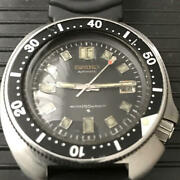 Seiko 2nd Diver Uemura Model 6105-8110 Automatic Men's Watch Used