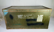Texas Trunk Company Military Metal Large Chest Mg-1 3 Footlocker March 1955