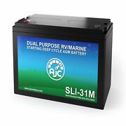 Ajc Group 31m Dual Purpose Starting And Deep Cycle Rv Marine And Boat Battery