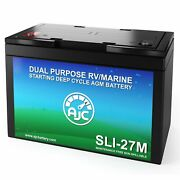 Ajc Group 27m Dual Purpose Starting And Deep Cycle Rv Marine And Boat Battery