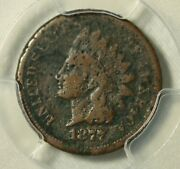 1877 Indian Cent, Pcgs Very Good. Sharp Date.