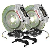For Ford Focus 11-18 Gt Series Cross Drilled 1-piece Rotor Front Big Brake Kit