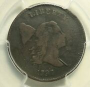 1797 Flowing Hair Half Cent .005 Pcgs Very Fine Details. 1 Over 1