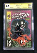 Cgc 9.6 Ss Amazing Spiderman 316 1st Venom Cover Signed By Todd Mcfarlane Nm+