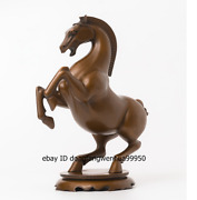 China Pure Red Copper Fengshui Auspicious Wealth Success Horse Animal Statue