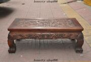 27 Old China Huanghuali Wood Carved Dragon Dining Table Tea Ceremony Tea Table