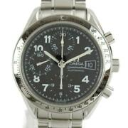 Omega Speedmaster Watch Menand039s Stainless Silver 351352 Waterproof Excellent+++