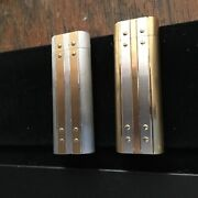 2 Santos 18k Gold Plated 7cms H 80s90s Vintage Lighters 1box No Papers