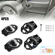4pc Interior Inside Chrome Door Handle Replacement Parts Fit For Chevy Hhr 06-11