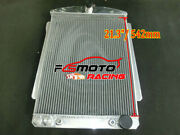 56mm Alu Radiator For Chevrolet Chevy Car Street Rod Auto 1940 1941 At/mt 40 41