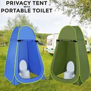 Portable Instant Pop Up Tent Camping Shower With Folding Toilet Portable Chair
