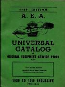 A.e.a. Automobile Electrical Repair And Service Parts 1938-49 Fully Illustrated