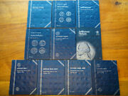 Lot Of 416 Coins In 10 Whitman Albums 1909-1993 U.s. Pennies, Nickels And Dimes