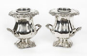 Antique Pair Regency Old Sheffield Plate Wine Coolers R. Gainsford 19th C