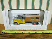 Union Pacific Railroad White Wc Stakebed Truck By Speccast 1/50th Scale