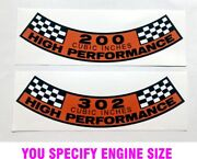 Ford Mustang Falcon Galaxie Air Cleaner Sticker Decal Any Engine Size