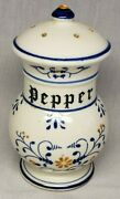 Vintage Heritage By Royal Sealy Blue Onion Pepper Shaker Only Nice