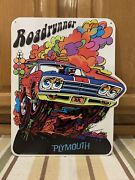 Plymouth Road Runner Metal Gas Oil Parts Tire Garage Challenger Vintage Style 1
