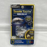 National Geographic Shark Tooth Mini Dig Kit Excavate A Genuine Fossil Stem New