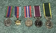 5 Post Wwii Miniature Canadian Medals