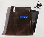 Genuine Vintage Leather Bound Notebook Sleeve Journal Cover Diary Case,handmade
