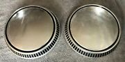 Two 1971-80 Ford Fairmont Pinto Mercury Bobcat Dog Dish Poverty Style Hubcaps
