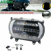 Motorcycle Dual Led Headlight Projector Drl Lamp For Harley Road Glide 2015-2020