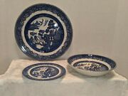 Johnson Brothers Blue Willow Dinner Plate, Soup Bowl And Bread Plate Set Of 18