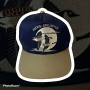 Vintage Duck Unlimited Geese Embroidered Snapback