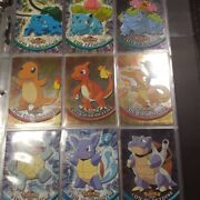 Topps Pokemon 1999 Tv Animation Series 1 Complete Set Nm Rare Holos Never Played