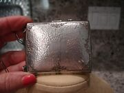 Antique/vintage/collectible Silver Compact Money Clip Coin Holder On A Chain