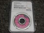 Ngc Pr69 2019 Tuvalu The Simpsons Family Donut 1 Silver Proof 1oz Coin