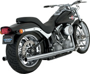 Vance And Hines Softail Duals Chrome Motorcycle Exhaust System 16893
