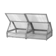 1.8 M Gray Wooden Cold Frame