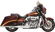 Road Rage 2-into-1 Long Megaphone Exhaust Chrome - Harley Fl Touring 2010-2017