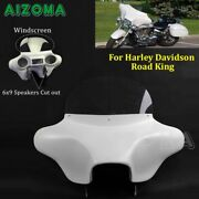 For Harley Road King Motorcycle Abs Fairing Batwing W/ Windshield 6x9 Speakers