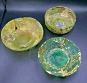 Lot Of Antique Spiritual Decorated Glass Bowls Ancient Romanand039s Culture Empire