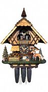 Cuckoo Clock Black Forest House With Moving Blacksmith And Movin.. Ho 86219t New
