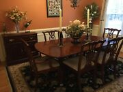 Cherry Dining Room Tablechairs And Server