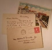 1926 Letter To Walter E Smith Jr Baltimore Md From Violet Re Merry Widow Date