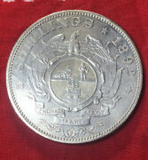 South Africa 1892 5 Shilling Double Shaft 4327 Minted Silver Au Old Mount