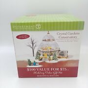 Dept 56 Crystal Gardens Conservatory Christmas In The City - Nrfp