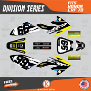 Graphics Kit For Honda Crf70 All Years Crf 70 Crf-70 Division - Yellow