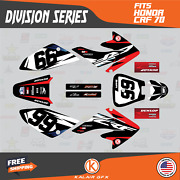 Graphics Kit For Honda Crf70 All Years Crf 70 Crf-70 Division - Red