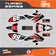 Graphics Kit For Honda Crf70 All Years Crf 70 Crf-70 Turbo- Red