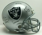 Jon Gruden Signed Helmet Sin City Original/chucky/knock If Youand039re With Me Jsa